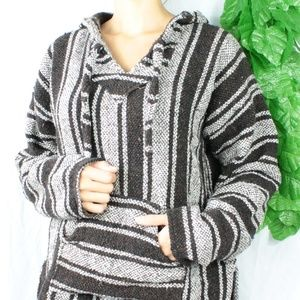 Sweaters - Boho Cozy Warm Oversized Hoodie Sweater Brown Med